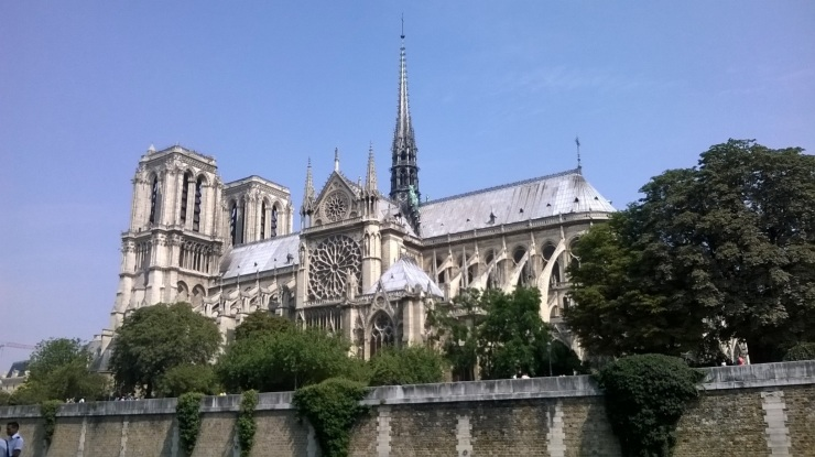 Notre Dame from the Seine, 22.7.14.